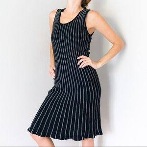 Vintage Max Studio Ribbed Stretchy Sweater Dress